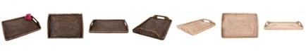 Artifacts Trading Company Rattan Rectangular Tray, High Handles