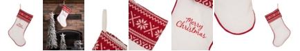 Glitzhome Fleece Christmas Stocking - Merry Christmas