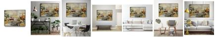 "Giant Art 36"" x 24"" Composition I Art Block Framed Canvas"