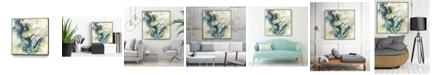 "Giant Art 20"" x 20"" Citron Satellites II Art Block Framed Canvas"