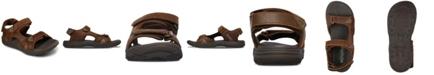 Skechers Men's Evented Renson Adjustable Strap Sandals from Finish Line
