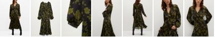 MANGO Women's Floral Print Dress