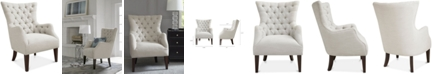 Furniture Adelyn Button Tufted Wing Back Chair