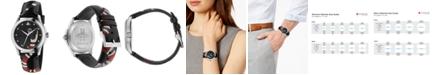 Gucci Unisex Swiss Le Marché Des Merveilles Gray Leather Strap Watch 38mm