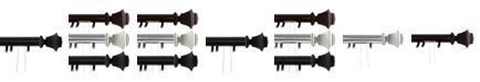 "Rod Desyne Bach Decorative Traverse Rod w/ Sliders 84""-156"""
