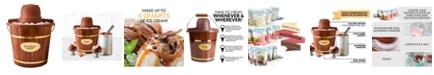 Nostalgia ICMW400 4-Quart Wood Bucket Ice Cream Maker
