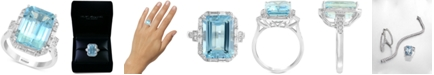 EFFY Collection EFFY® Aquamarine (6-7/8 ct. t.w.) & Diamond (1/2 ct. t.w.) Ring in 14k White Gold
