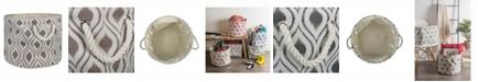 Design Imports Design Import Storage Bin Ikat, Round