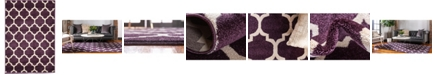 "Bridgeport Home Arbor Arb1 Purple 2' 2"" x 3' Area Rug"