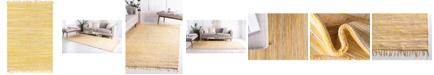 Bridgeport Home Jari Striped Jar1 Yellow 4' x 6' Area Rug