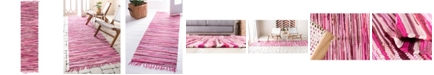 "Bridgeport Home Jari Striped Jar1 Pink 2' 7"" x 9' 10"" Runner Area Rug"
