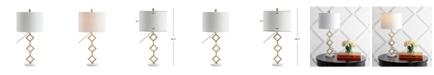 "JONATHAN Y Diamante 29.5"" Modern Gilt Metal with Marble Base LED Table Lamp"
