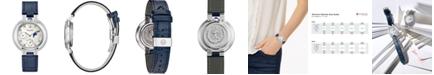Bulova Women's Rubaiyat Blue Leather Strap Watch 35mm