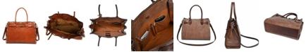OLD TREND Westland Leather Satchel Bag