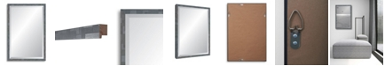 "Reveal Frame & Decor Reveal Millennium Geometric Twilight Silver Beveled Wall Mirror - 17"" x 26"""