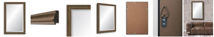 Reveal Frame & Decor Reveal Brushed Antique Silver Beveled Wall Mirror