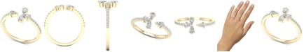 Macy's Diamond Pear-Cut Cuff Statement Ring (1/2 ct. t.w.) in 14k Gold