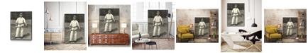 "Giant Art 24"" x 18"" Harpers Weekly Tennis II Art Block Framed Canvas"