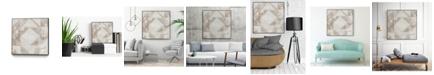 "Giant Art 20"" x 20"" Geometric Veil II Art Block Framed Canvas"
