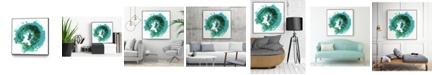 "Giant Art 30"" x 30"" Geode Abstract I Art Block Framed Canvas"