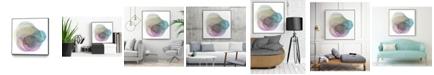 "Giant Art 30"" x 30"" Evolving Planets II Art Block Framed Canvas"