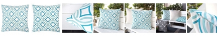 Homey Cozy Cara Retro Circles Outdoor Pillow