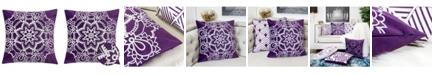 Homey Cozy Eleanor Star Mandala Square Decorative Throw Pillow
