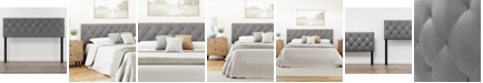 Dream Collection Adjustable King Size Faux Leather Headboard