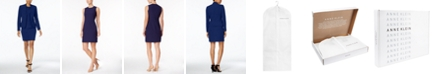 Anne Klein Executive Collection Shawl-Collar Sleeveless Sheath Dress Suit, Created for Macy's