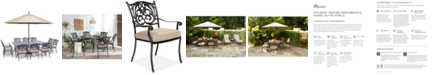 """Furniture Chateau Outdoor Aluminum 11-Pc. Dining Set (84"""" X 60"""" Dining Table & 10 Dining Chairs) with Sunbrella® Cushions, Created for Macy's"""