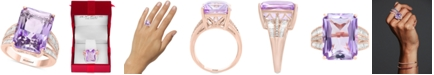 EFFY Collection EFFY® Pink Amethyst (13 ct. t.w.) & Diamond (3/8 ct. t.w.) in 14k Yellow Gold (Also Available in Blue Topaz, Citrine, and Green Quartz)