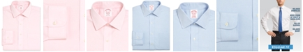 Brooks Brothers Men's Madison Classic/Regular Fit Non-Iron Solid Pinpoint Solid Dress Shirt