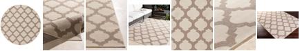 """Surya CLOSEOUT!  Alfresco ALF-9586 Cream 5'3"""" Round Area Rug, Indoor/Outdoor"""