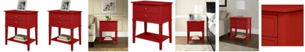 Ameriwood Home Cottage Hill Accent Table With 2 Drawers