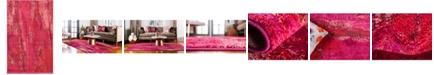 """Bridgeport Home Adah Ada2 Pink 3' 3"""" x 5' 3"""" Area Rug"""