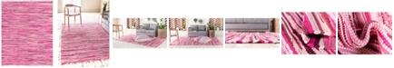 Bridgeport Home Jari Striped Jar1 Pink 8' x 10' Area Rug
