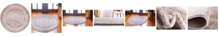 "Bridgeport Home Anika Ani2 Light Brown 3' 3"" x 3' 3"" Round Area Rug"