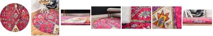 Bridgeport Home CLOSEOUT! Arcata Arc1 Pink 8' x 8' Round Area Rug