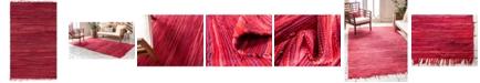 Bridgeport Home Jari Striped Jar1 Red 5' x 8' Area Rug
