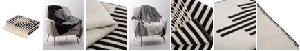 Glitzhome Woven Cotton Geometric Jacquard Throw