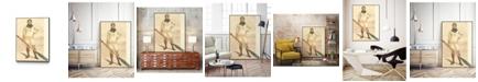 "Giant Art 32"" x 24"" Vanity Fair Rowing Art Block Framed Canvas"