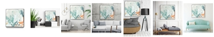 "Giant Art 30"" x 30"" Current Synergy II Art Block Framed Canvas"