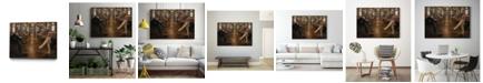 "Giant Art 20"" x 16"" Last Stop Art Block Framed Canvas"