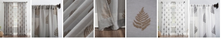 """No. 918 Fern Embroidered 50"""" x 63"""" Sheer Curtain Panel"""