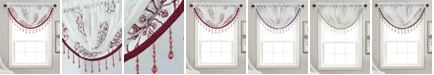 """RT Designers Collection Bergen Floral Embroidered 47"""" x 37"""" Swag Valance"""