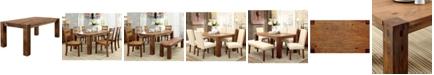Furniture of America Yukaiah Solid Wood Dining Table