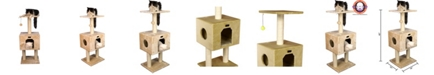 Armarkat Cat Tree with Condo and Scratch Post