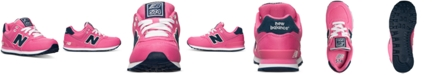 New Balance Little Girls' 574 Pique Polo Casual Sneakers from Finish Line