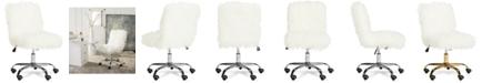 Safavieh Hanna Faux Fur Office Chair
