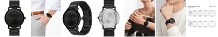 Movado Men's Swiss BOLD Black Stainless Steel Bracelet Watch 40mm